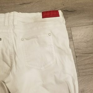 fire Pants - White bermuda pants